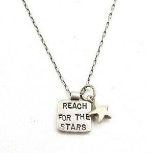 Jewelry - Reach For the Stars Necklace Silver